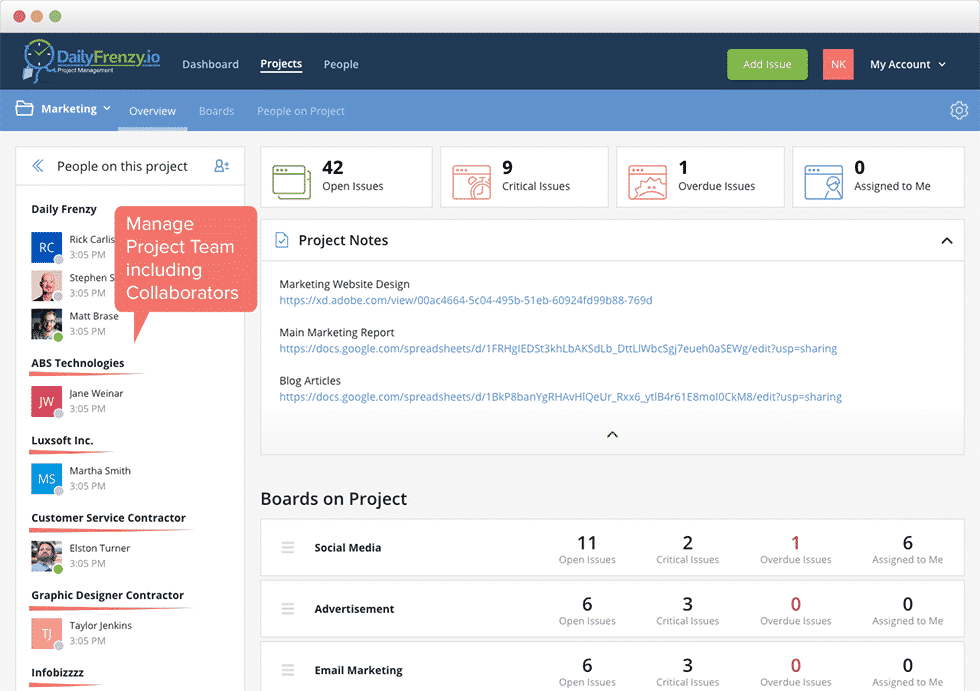 distributed team collaboration tool
